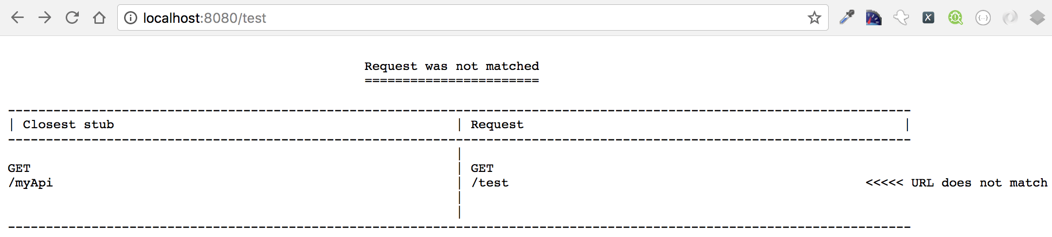 Mocking APIs using WireMock for testing negative cases when