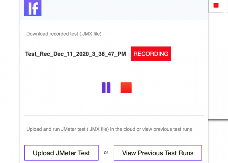 record jmeter tests chrome extension