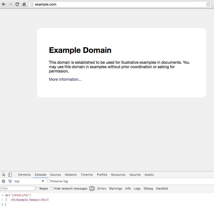chrome-browser-console-xpath